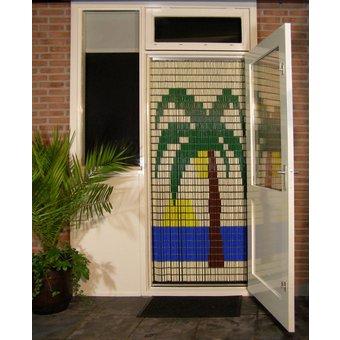Liso ® 001 Fliegenvorhang mit Palme - fertig 92 x 209 cm