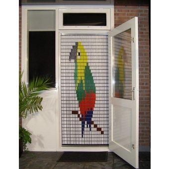 Liso ® 010 Vliegengordijn met Papegaai - kant en klaar 92 x 209 cm