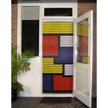 Liso ® 016 Fliegenvorhang mit farbigen Flächen - gebrauchsfertig 92 x 209