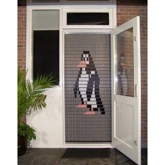 Liso ® 018 Fliegenvorhang mit Pinguin - fertig 92 x 209 cm