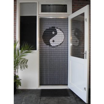 Liso ® 038 Fliegenvorhang mit Yin Yang - fertig 92 x 209 cm