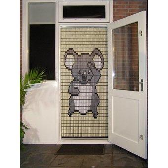 Liso ® 066 Vliegengordijn met Koalabeertje - kant en klaar 92 x 209 cm
