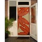 Liso ® 077 Fliegenvorhang mit Orangenblüten - fertig 92 x 209