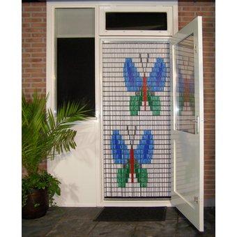 Liso ® 003 Vliegengordijn met Vlinders - Doe-het-zelf pakket. Prijs per / m²
