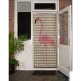 Liso ® 055 Vliegengordijn met Flamingo - Doe-het-zelf pakket | Prijs / m²