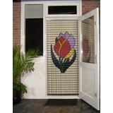 vliegengordijn Liso ® 064 Fly Vorhang mit Tulpen - Do-it-yourself-Paket Preis / m²