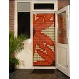 vliegengordijn Liso ® 077 Fliegenvorhang mit Orangenblüten - Do-it-yourself-Paket. Preis pro m²