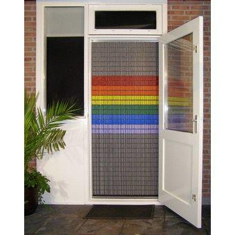 Liso ® Vliegengordijn DHZ-Pakket Liso® Regenboog vlag - Doe-het-zelf pakket. Prijs per / m²