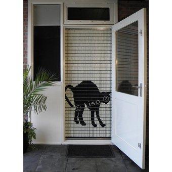 Liso ® Vliegengordijn DHZ-Pakket Liso®  Zwarte kat - Doe-het-zelf pakket. Prijs per / m²