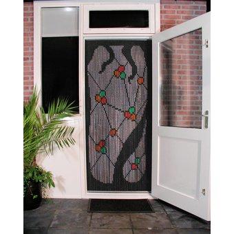 Kriska ® Kettenvorhang | Fliegenvorhang bereit für den Einsatz 92x209 Gaudi dunkel