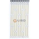 Liso ® Vliegengordijn Crème - DHZ-pakket  Prijs per / m²
