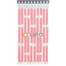Liso ® Vliegengordijn Roze - Doe-het-zelf pakket / m2
