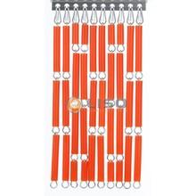 Liso ® Vliegengordijn Oranje - Doe-het-zelf pakket / m2