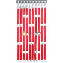 Liso ® Vliegengordijn Rood - Doe-het-zelf pakket / m2
