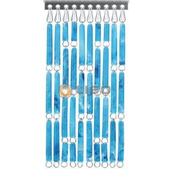 Liso ® Fliegenvorhang DIY Liso® Blau geflammt