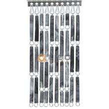 vliegengordijn Liso ® Fliegenvorhang Grau geflammt - Do-it-yourself-Paket / m2