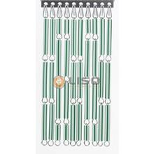 Liso ® Fliegenvorhang Grün / weiß gestreift - Bastelpackung / m2