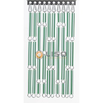 Liso ® Fliegenvorhang DIY Liso® Grün / weiß gestreiftes Paket