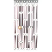 Liso ® Vliegengordijn Bruin/wit gestreept - Doe-het-zelf pakket / m2