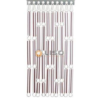 Liso ® Fliegenvorhang DHZ-Paket Liso® Braun / Weiß gestreift
