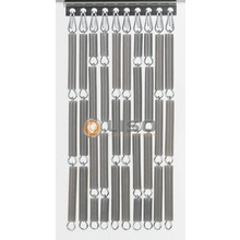 Liso ® Vliegengordijn Zilver metallic - Doe-het-zelf pakket / m2