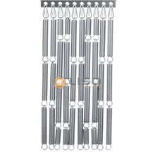 Liso ® Fliegenvorhang-Silber - fix und fertig 92 x 209