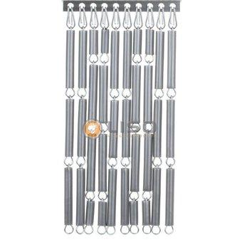 Liso ® Vliegengordijn Liso kant en klaar 92 x 209 Zilver Verspringend