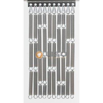 Liso ® Vliegengordijn Liso kant en klaar 92 x 209 Zilver metallic Verspringend