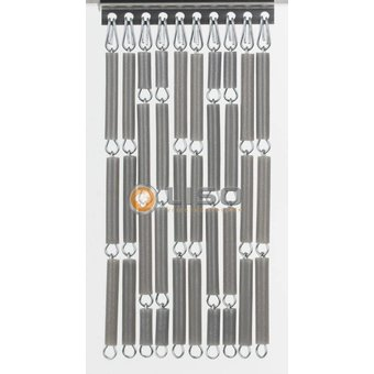 vliegengordijn Liso ® fliegenvorhang Liso fix und fertig 92 x 209 Silver metallic verspringend