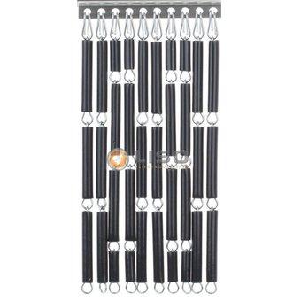 Liso ® Vliegengordijn Liso kant en klaar 92 x 209 Antraciet Verspringend