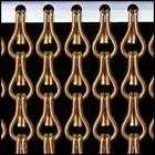 Kriska ® Kettinggordijn Bruin/brons: Op maat gemaakt | Prijs per m²