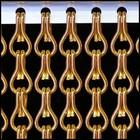 Kriska ® Kette orange Vorhang: nach Maß | Preis pro m²