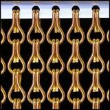 Kriska ® Kettinggordijn Oranje: Op maat gemaakt | Prijs per m²
