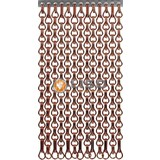 Kriska ® Extra engen Kettenvorhang Brown: Maßgeschneidert | Preis pro m²