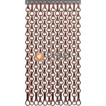 Kriska ® Extra dicht kettinggordijn Bruin: Op maat gemaakt | Prijs per m²