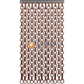 Kriska ® Kette Vorhang | Fly Vorhang Brown mit extra enger hängen: Maßgeschneidert | Preis pro m²
