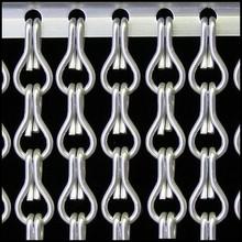 Kriska ® AANBIEDING Kettinggordijn Zilver Satin - kant en klaar 100x230 cm