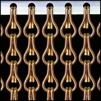 Kriska ® Kettenvorhang | Fliegenvorhang bereit 100x230 Bronze