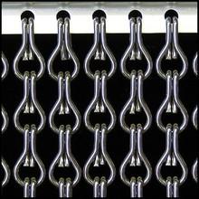 Kriska ® ANGEBOT Kettenvorhang Anthrazitgrau - fix u. fertig 100x230 cm