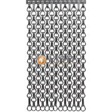Kriska ® Extra dicht kettinggordijn Grijs: Op maat gemaakt  | Prijs per m²