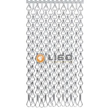Kriska ® Extra dicht kettinggordijn Zilver: Op maat gemaakt | Prijs per m²