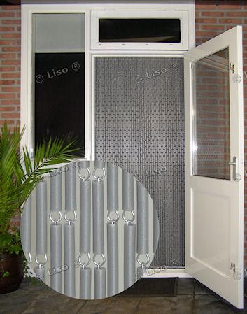 Liso fliegen Vorhang silber-metallic