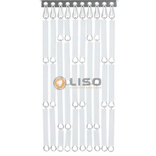vliegengordijn Liso ® Fliegenvorhänge weiß- fix und fertig 92 x 209