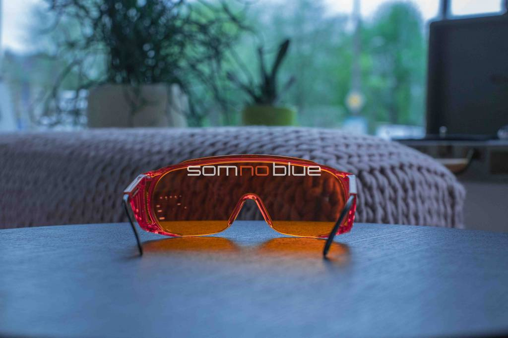 Blauw licht blokkerende bril (voor brildragers) | Slaapbril SB-F2