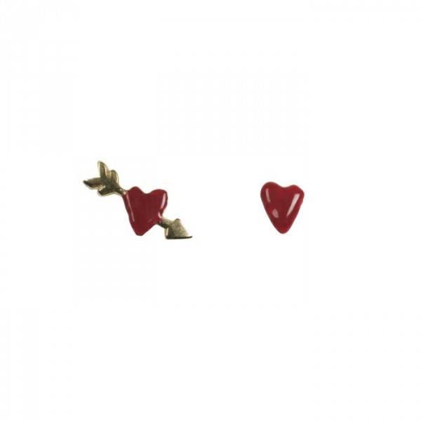 BETTY BOGAERS Betty Bogaers || Small Red Heart Arrow Gold