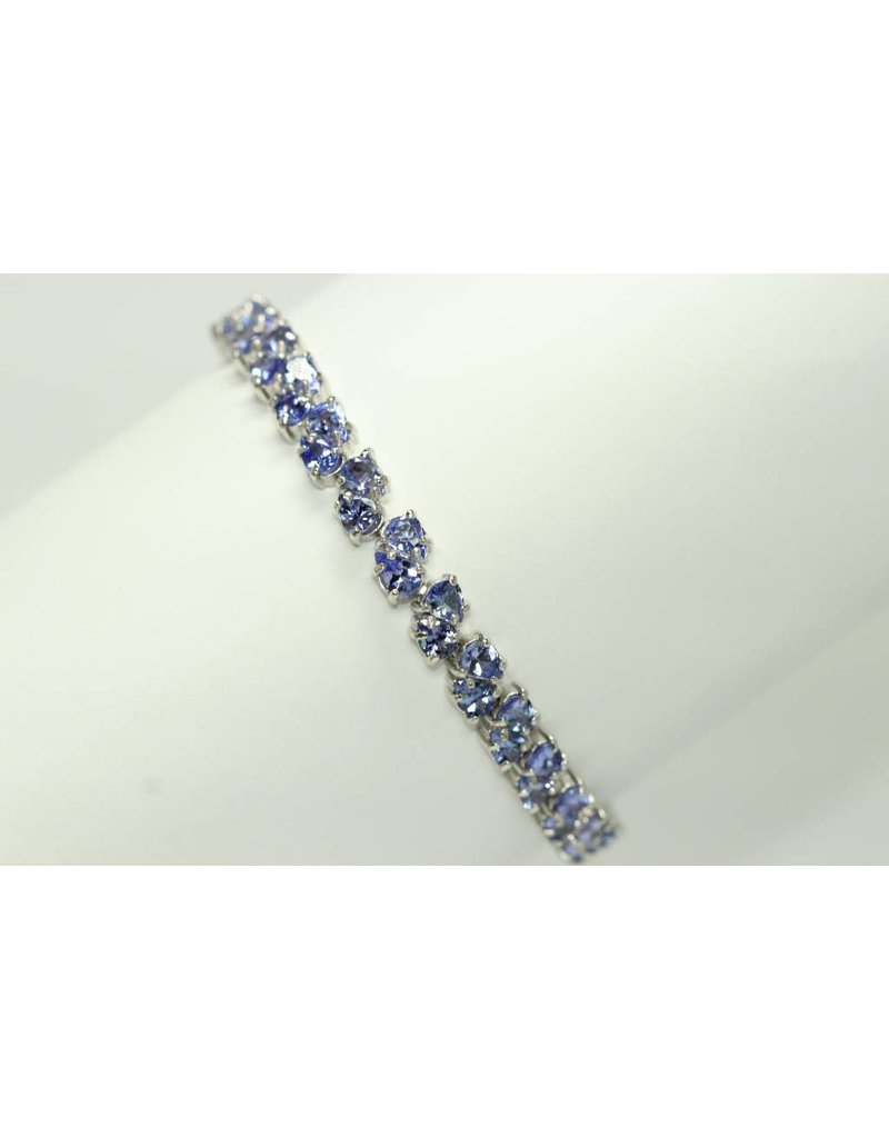 december prong bracelet tgw round silver sterling blue tanzanite ct set i