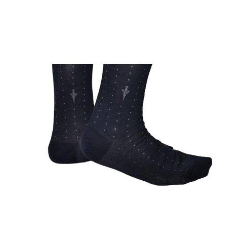 Blue·socks·dots·Puntinato