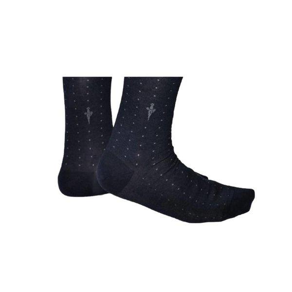 Cesare Paciotti Blauwe sokken met grijze stippen