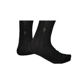 Cesare Paciotti Black·socks·dots·Puntinato