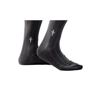 Cesare Paciotti Graue Socken mit Streifen Vanise